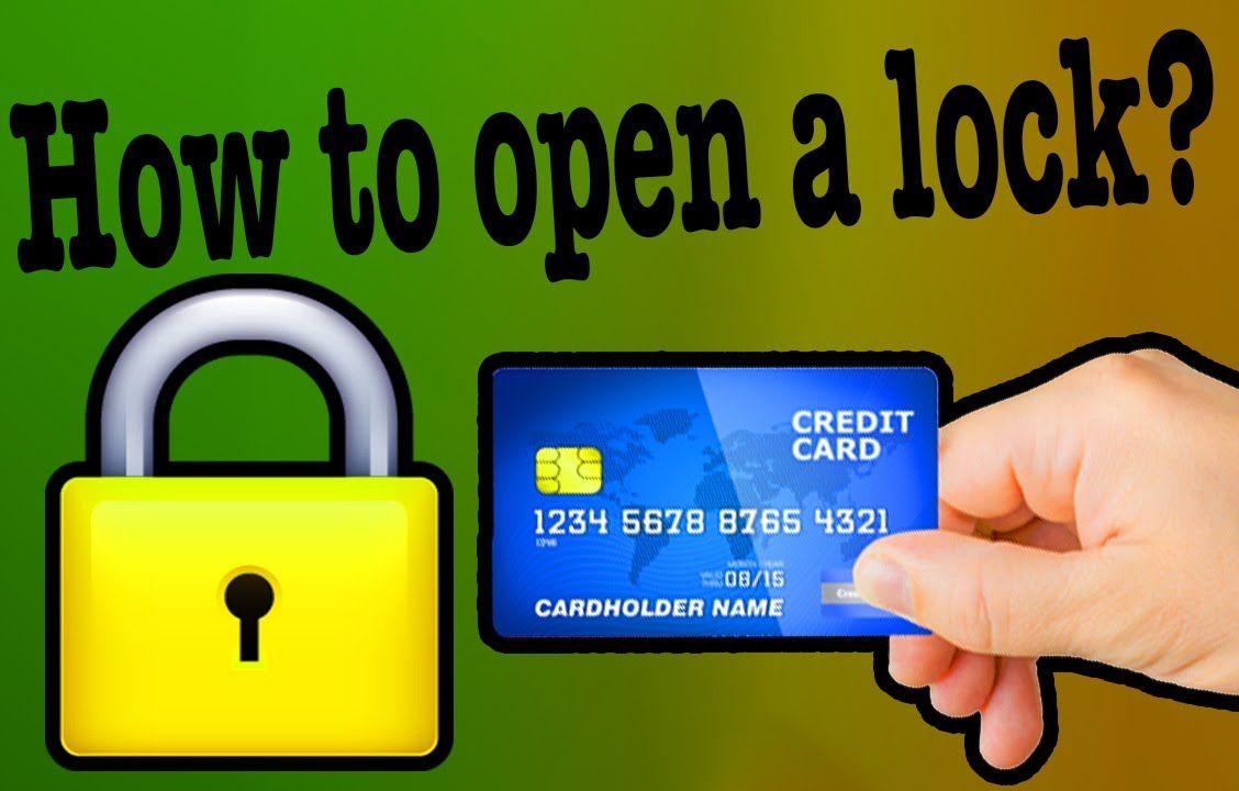 How To Open A Lock Hack Plastic Card Diy Lock Lock Lock Picking Tools