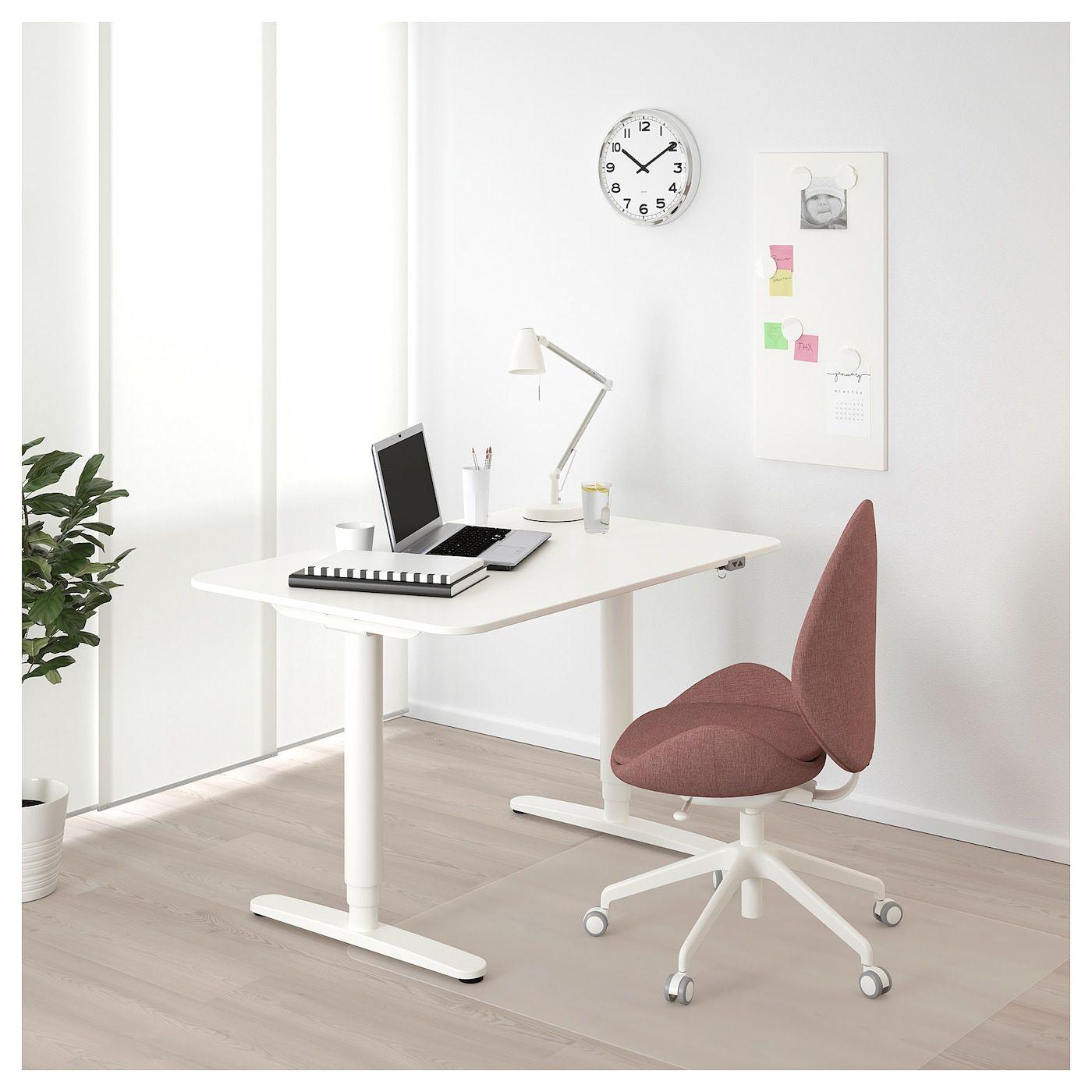 Zit Sta Stoel Ikea.Bekant Bureau Zit Sta Wit In 2019 Werkkamer Ikea Bekant Desk
