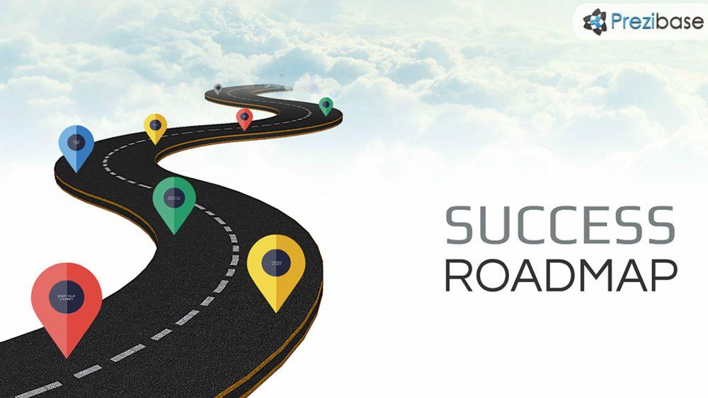 Success Roadmap Prezi Template Prezibase Prezi Templates Roadmap Business Plan Template