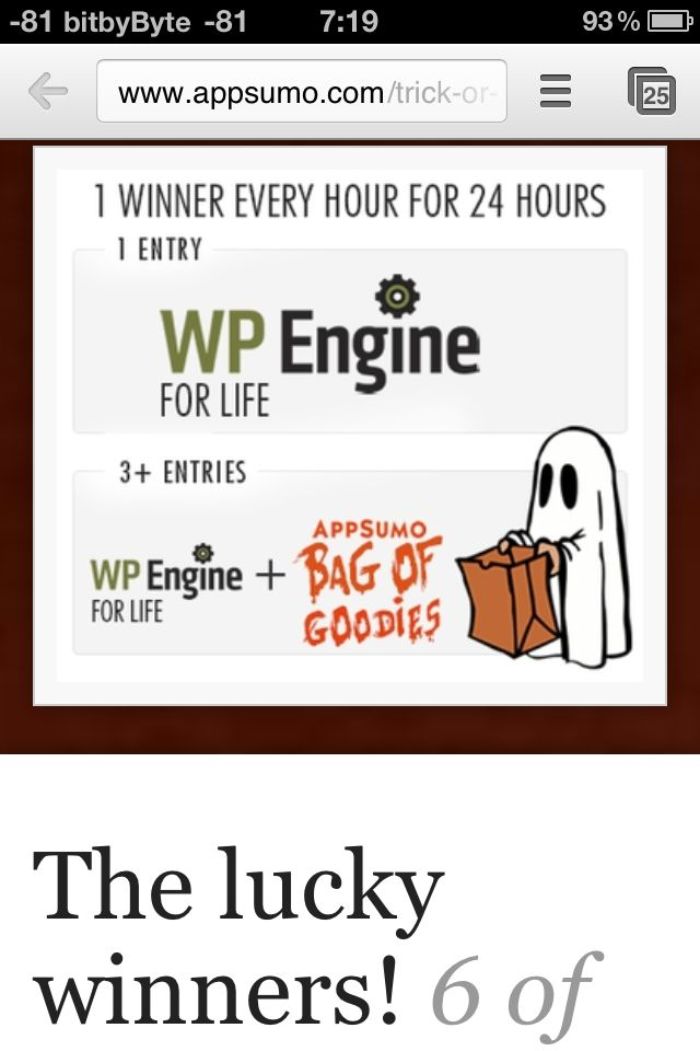 AppSumo's Halloween promo #5