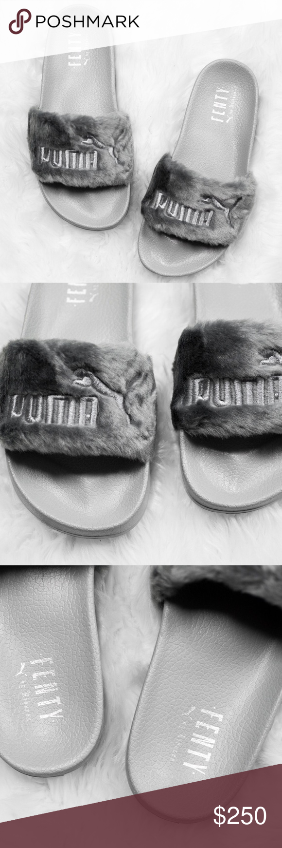 1ef79b884d1 Womens Puma x Rihanna Fur Fenty Slides in Grey Brand new with original box.  NO TRADES. Cheaper through