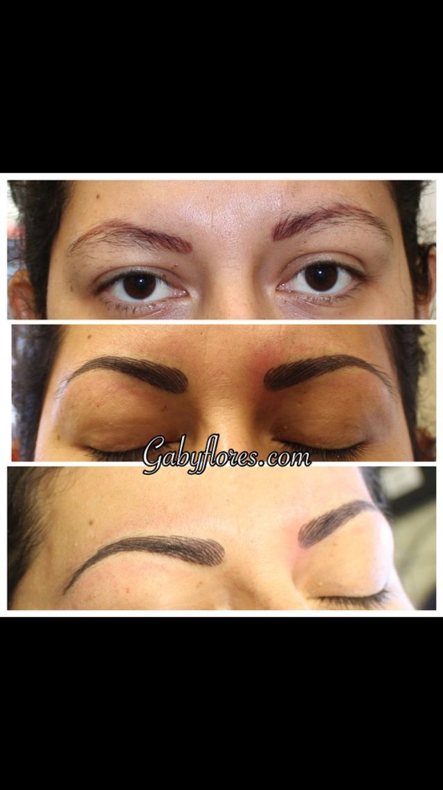3D eyebrows (With images)   Hair stroke eyebrows, Eyebrows ...