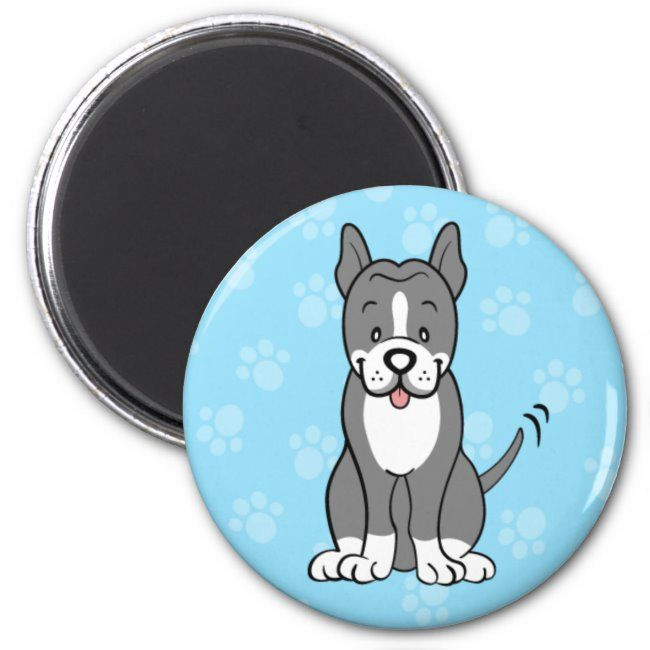 Cute Cartoon Dog Pitbull Magnet #staffordshire #bull #terrier #merchandise #staffie