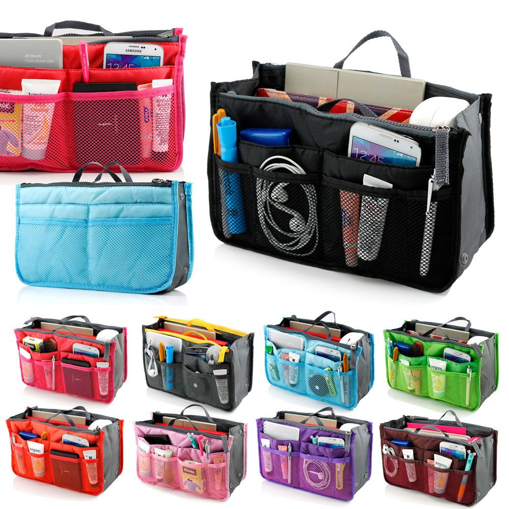 Women Lady Travel Insert Handbag Organiser Purse Large Liner Organizer Tidy Bag Ebay