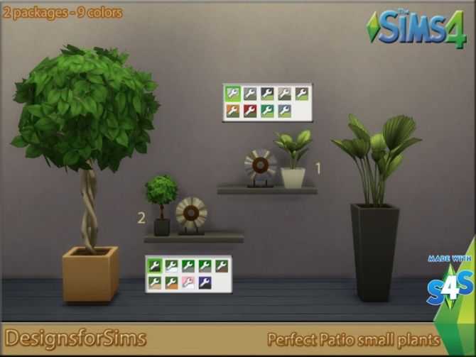 Perfect Patio Plants at Designs for Sims via Sims 4 Updates