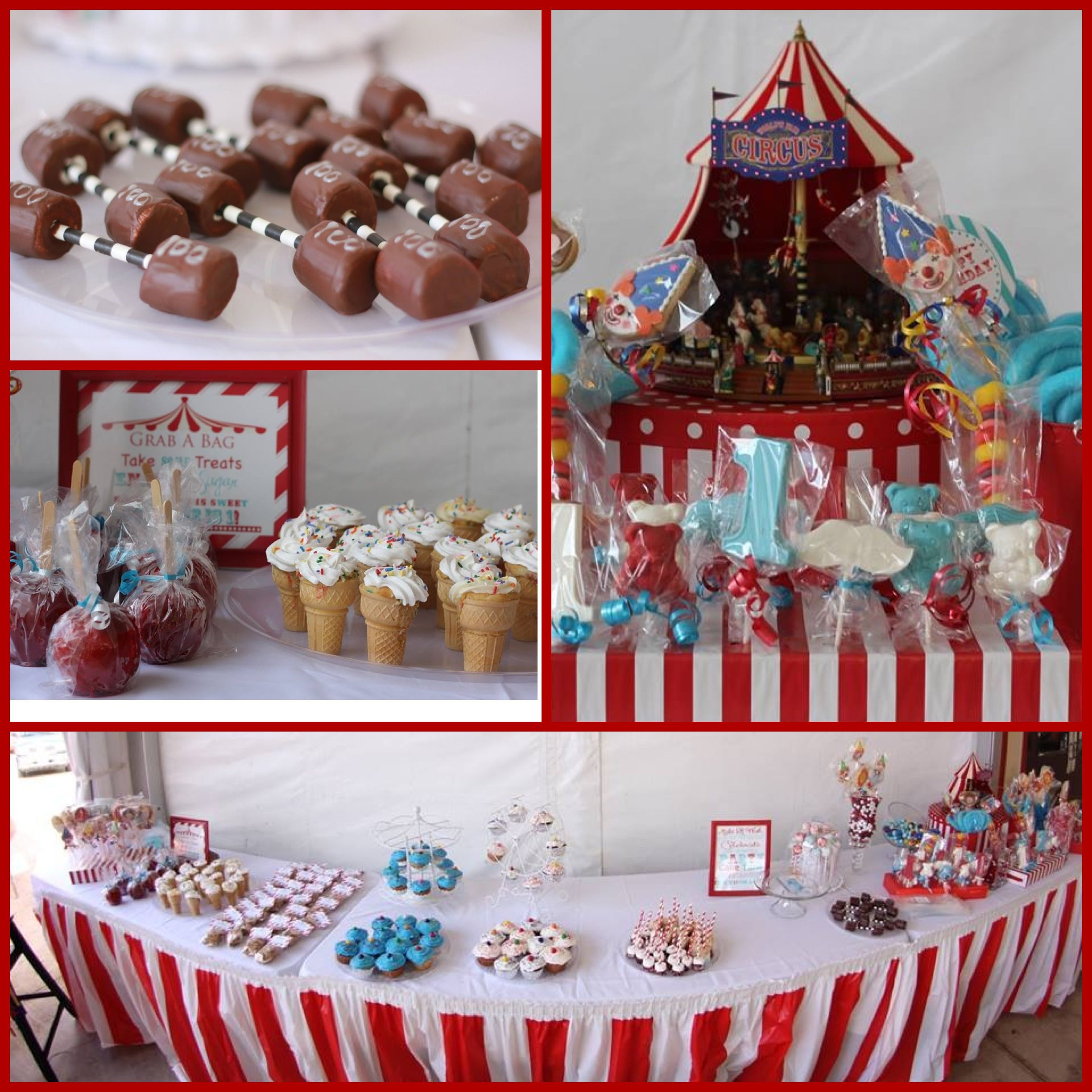 Circus Party, Big Top Party, Circus Candy Bar, Chocolate Covered