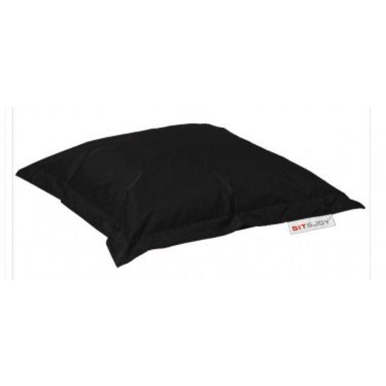 Sit and Joy Mini Basic - Zitzak - Vierkant - 80x80 cm - Nylon - Zwart