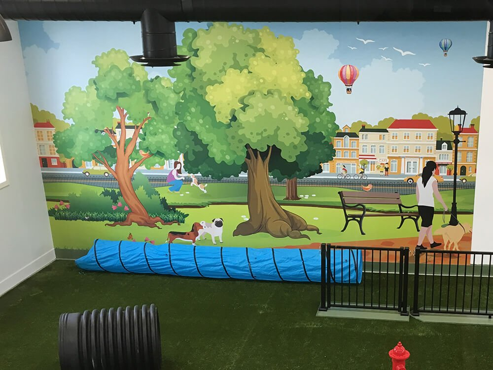 Dog Park Mural Wall Graphic Print New Wall Murals Wall