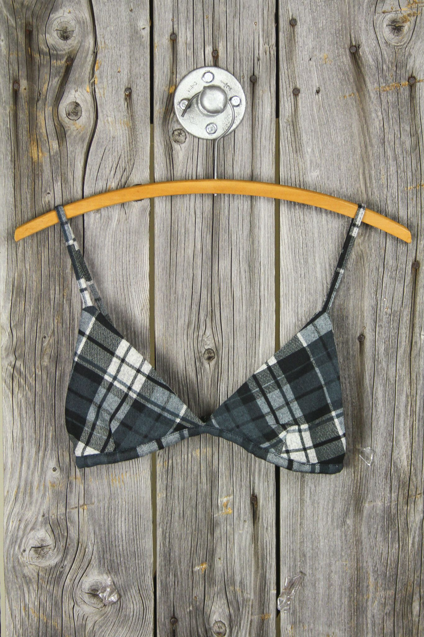 8da17341c0c7f3 flannel fuzzy soft bra bralette