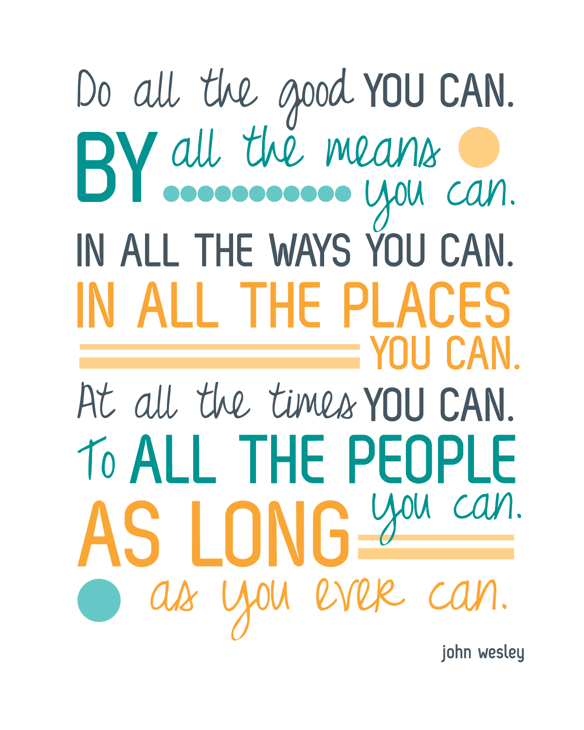 do good quote   do all the good you can in all the ways you can… I