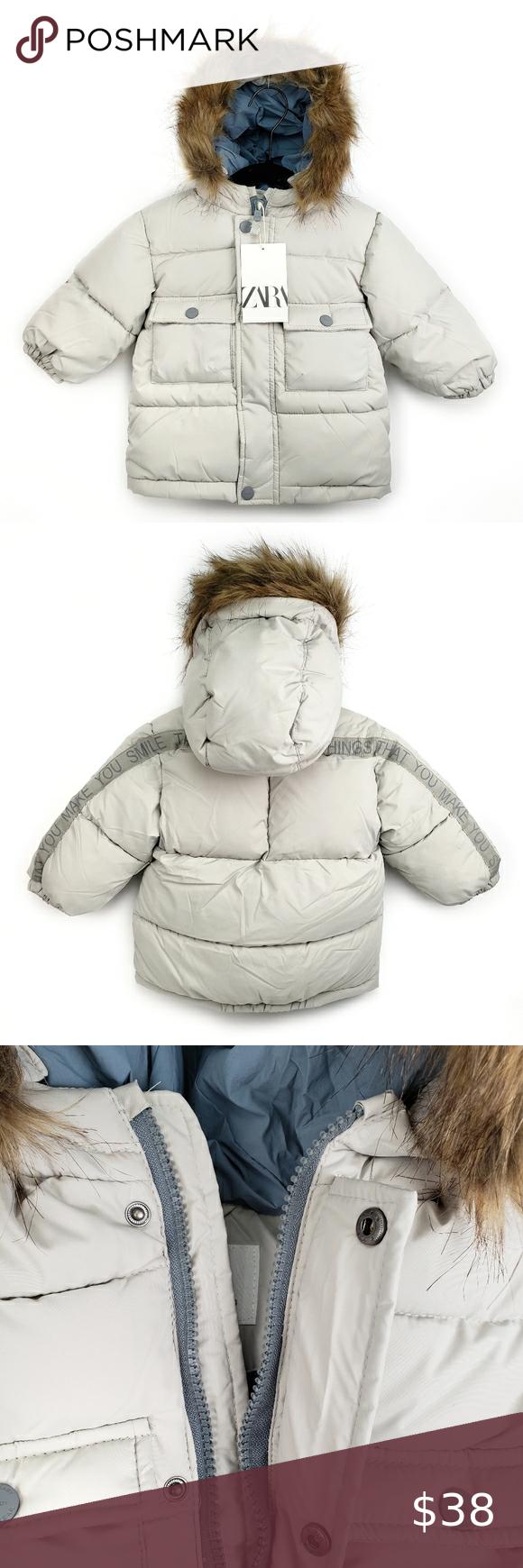 NEW Zara Baby Fleece Puffer Jacket With Hood NWT in 2020 ...
