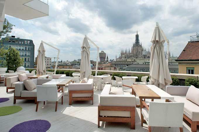 Hotel Boscolo Rooftop Bar Milan A Place in Milan | Ciao, Italia ...