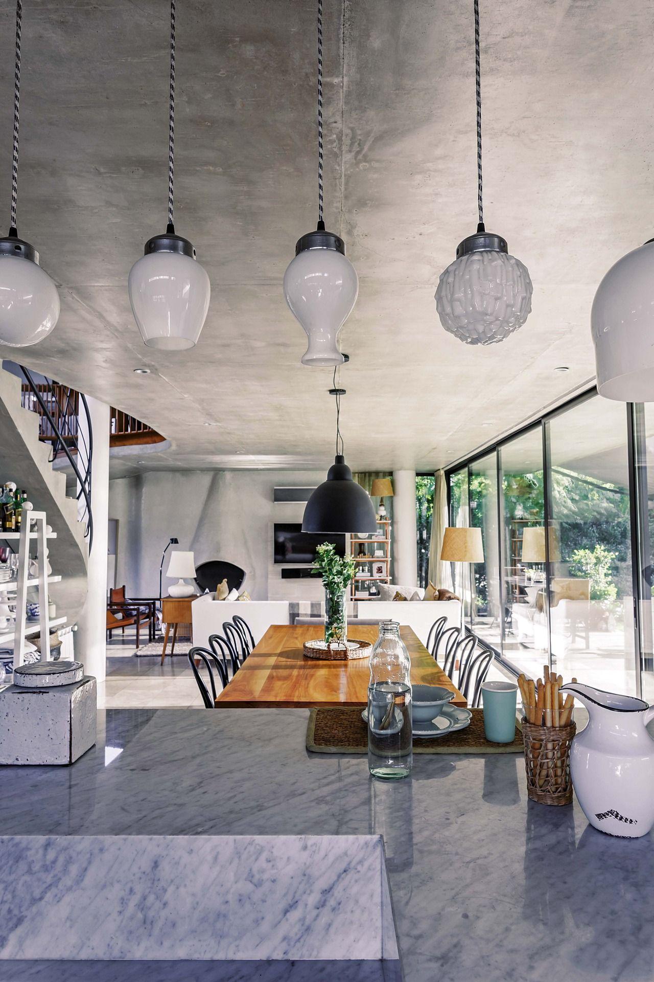 Una Casa Decorada Con Materiales Simples Al Servicio Del Dise O  # Alejandra Hoeffner Muebles