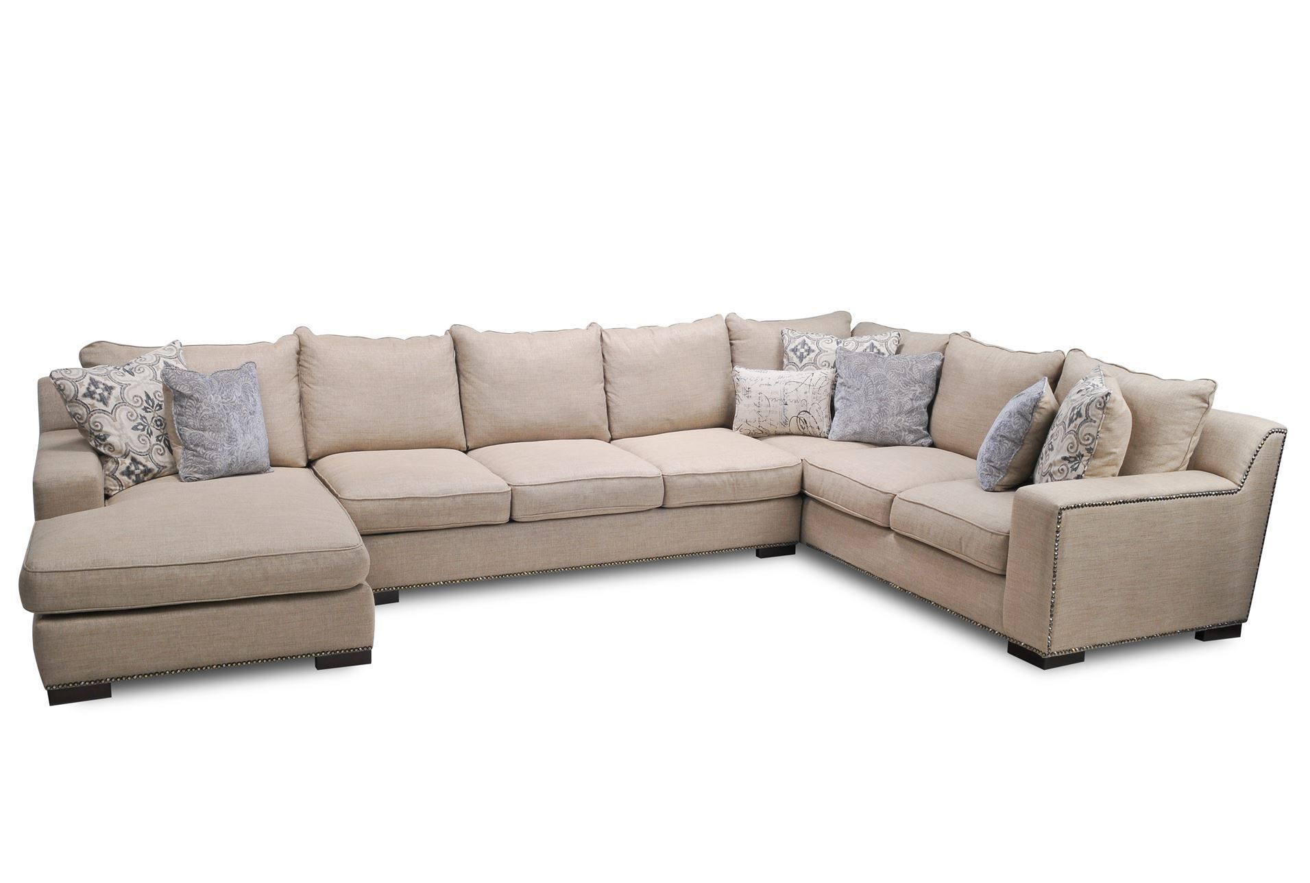 Way too big but liking this style Sultan 3 Piece Sectional