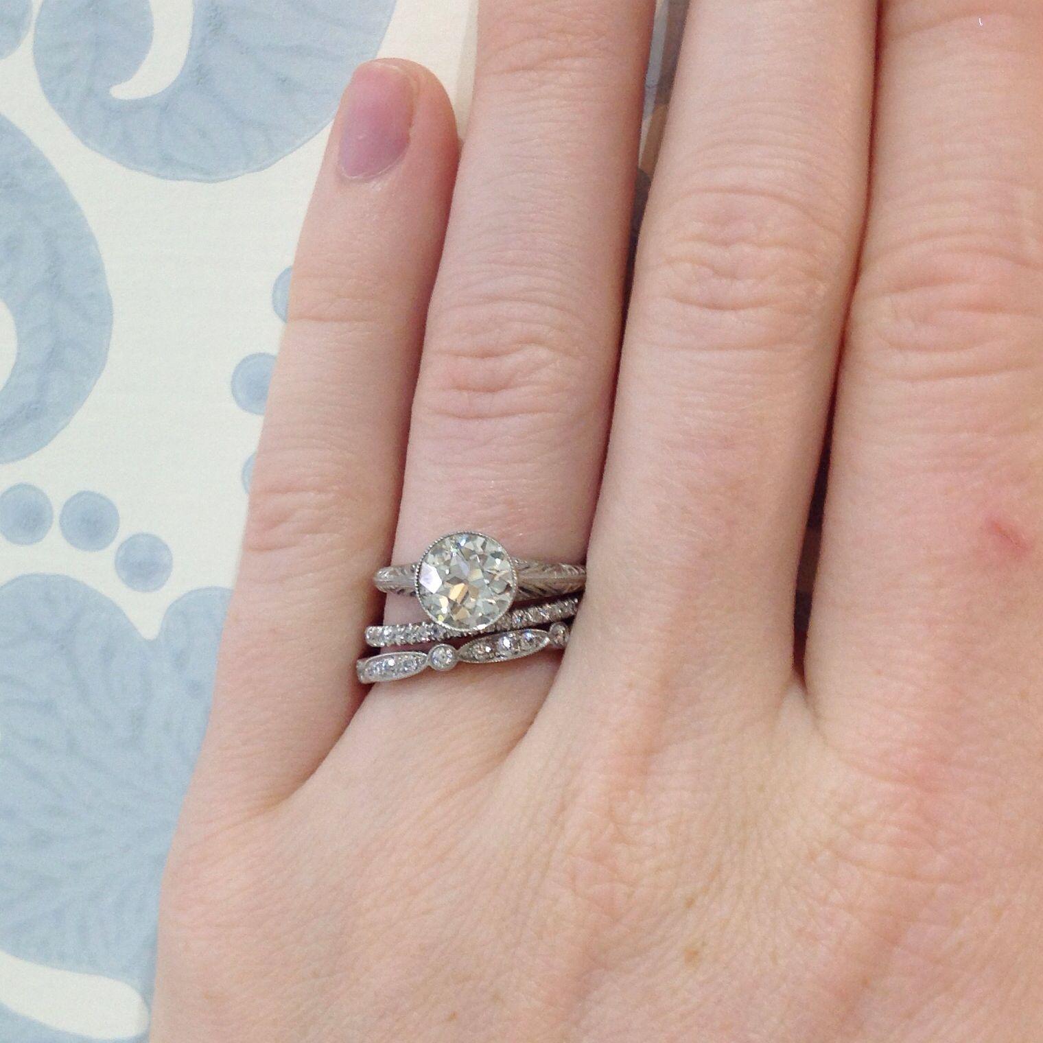 It\'s Wedding Ring Wednesday! #oldeuropeancut @singlestonela ...