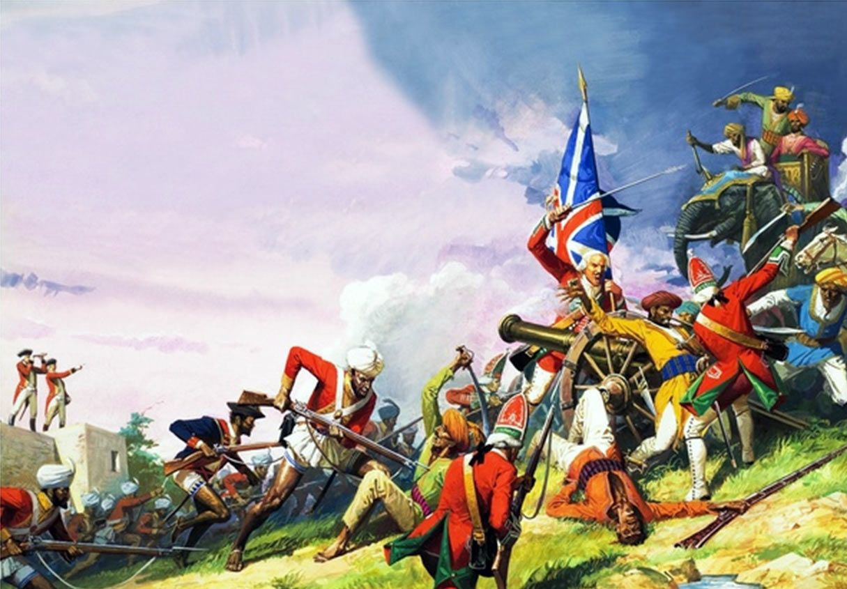 AFTER THE BATTLE OF PLASSEY PAINTING BRITAIN INDIA 7 YEARS WAR ART CANVASPRINT