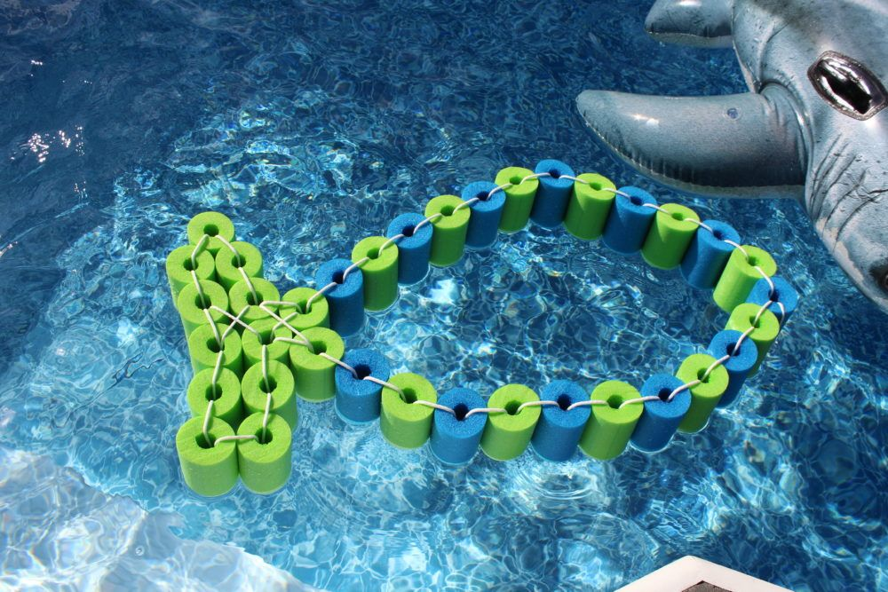 Diy Pool Noodle Fish Float With Headrest A Family Lifestyle Food Blog Pool Noodles Diy Pool Pool Noodle Crafts