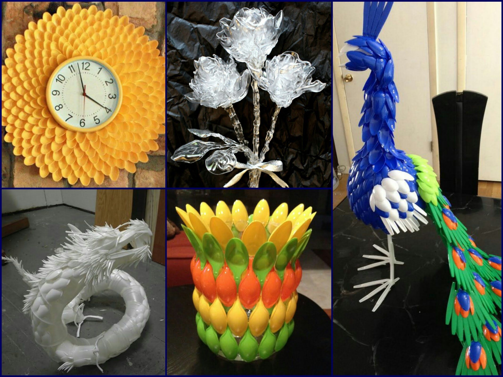 plastic spoon craft ideas recycled home decor forks
