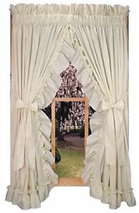 Stephanie Country Ruffled Priscilla Curtains W Tiebacks Primitive