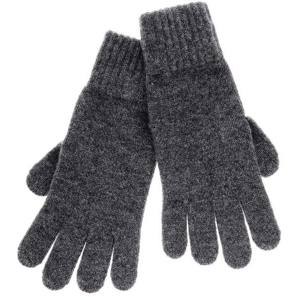 INVERNI FLORENCE Grey Gloves ($115) ❤ liked on Polyvore