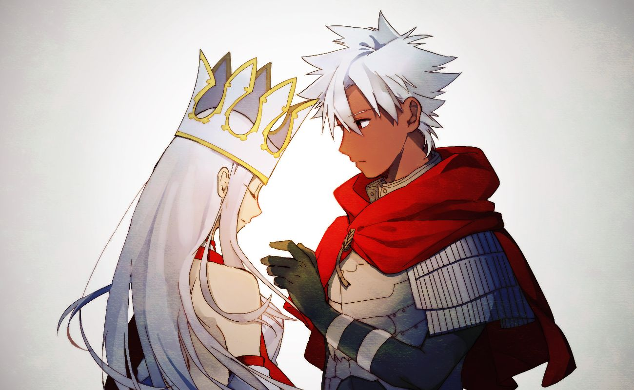 Fate Grand Order Assassin (Emiya Kiritsugu) and Caster