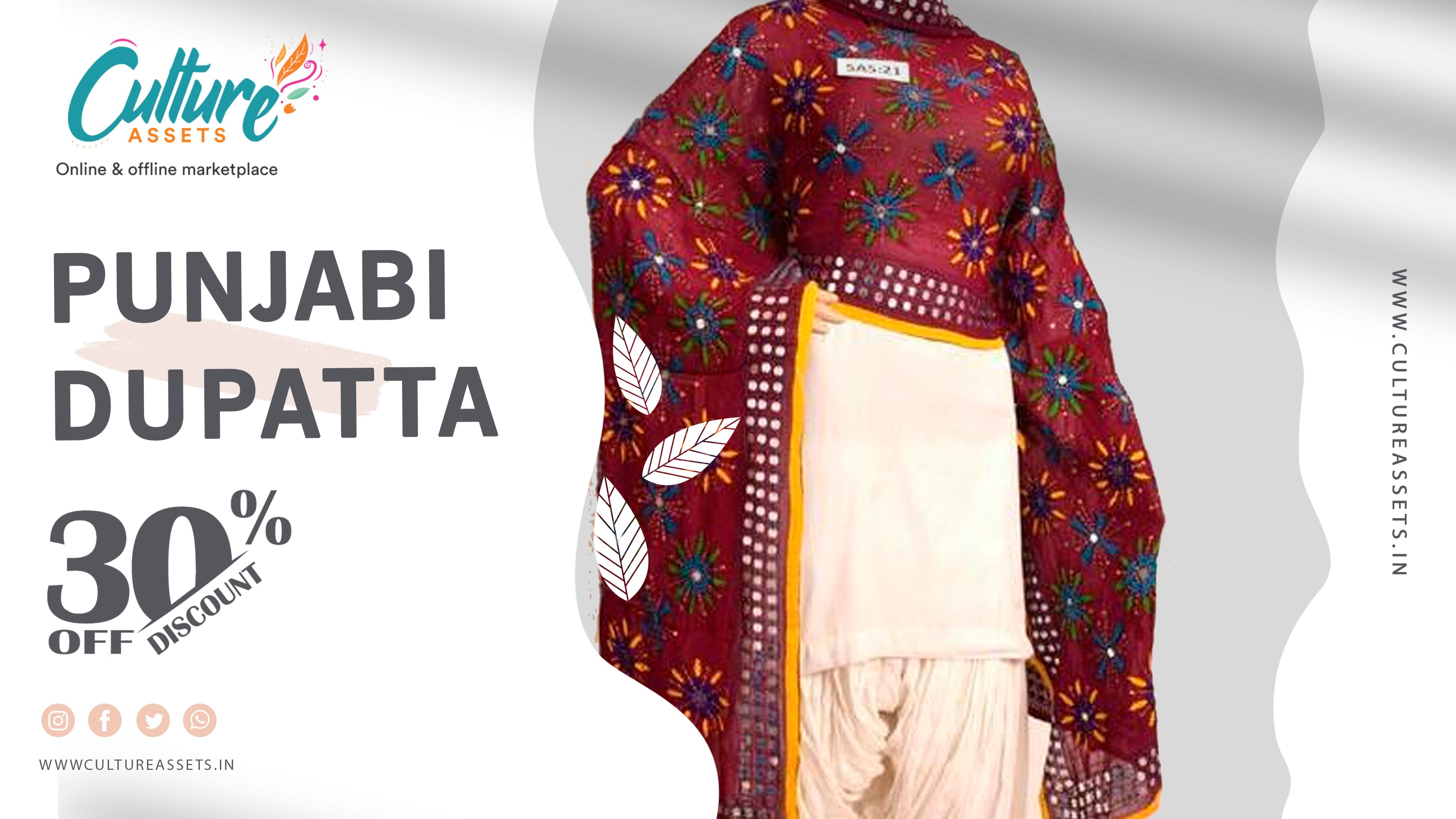 Get Amazing Punjabi Dupattas by Culture Assets!! Coming Soon!! . . . #punjabidupatta #heavydupatta #designerdupatta #fulkaridupatta #dupattaonline #pulkaridupatta #trendydupattas #phulkaridupatta #rajasthani #rajasthan #ajrakhdupatta #velvetdupatta #bridaldupatta #fancydupattas #dupattalover #floraldupatta #cottondupatta #punjabisuits #bandhanidupatta #embroidereddupatta #fancydupatta #lifestylish #indianinspired #indianwearforwomen #decorativeborder #punjab