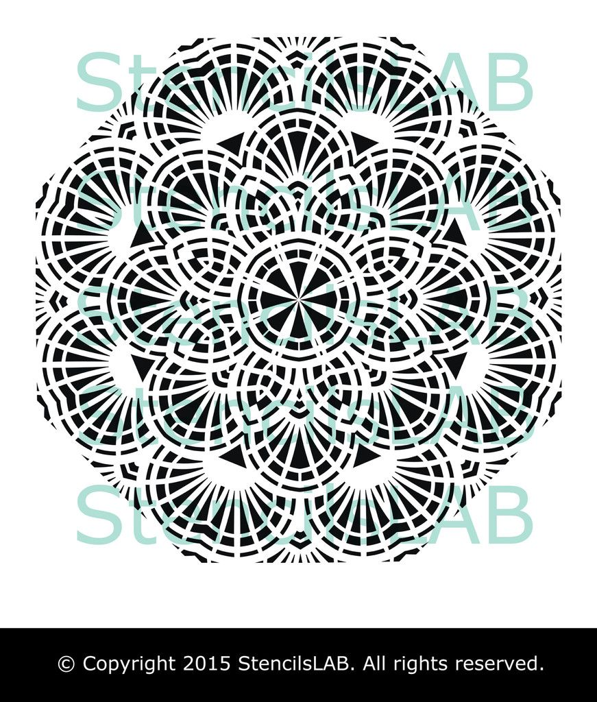 Round mandala stencil unique design wall stencil reusable wall round mandala stencil unique design wall stencil reusable wall sten stencilslab wall stencils amipublicfo Images