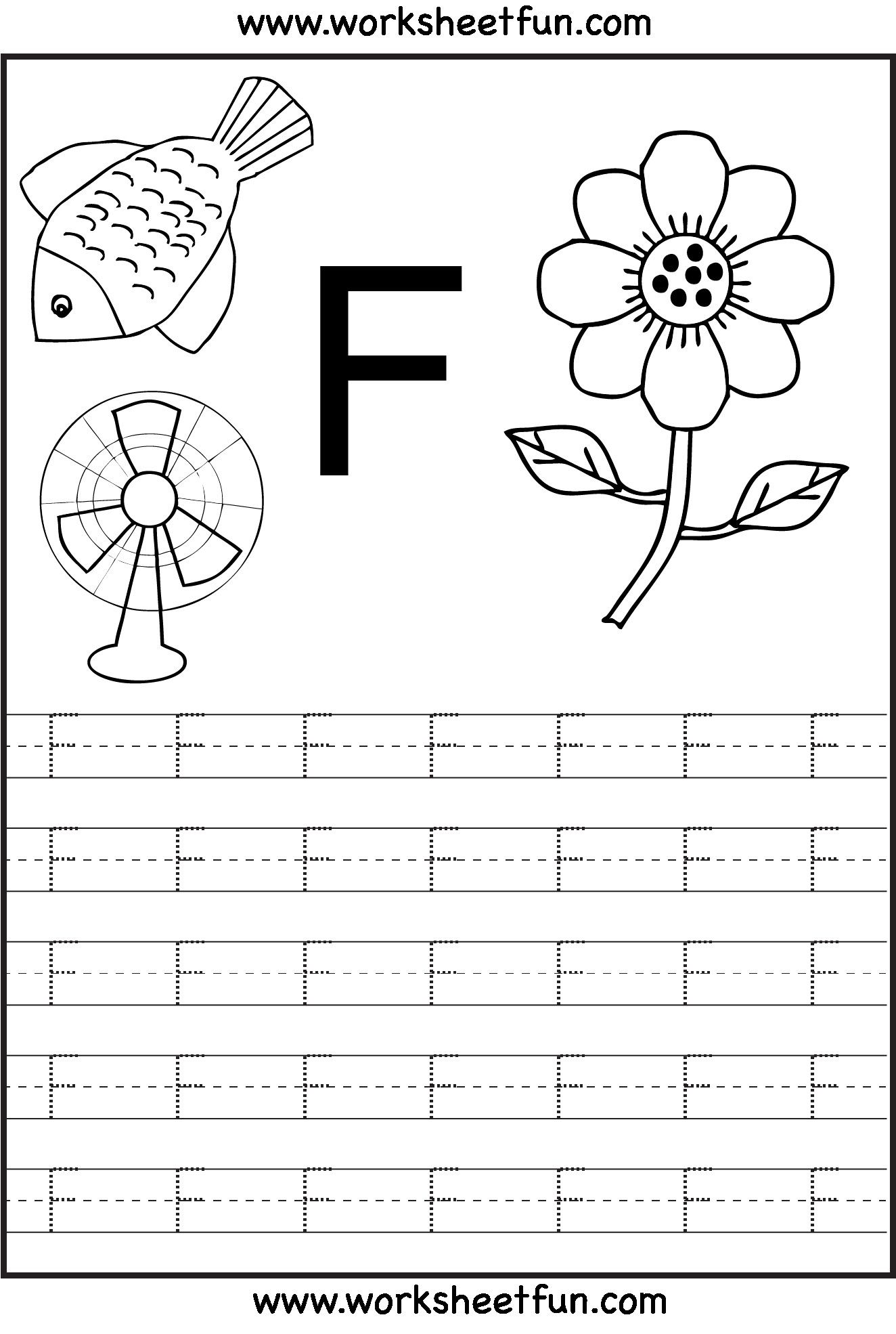 6 Worksheets Practicing Letters U And V Letter F