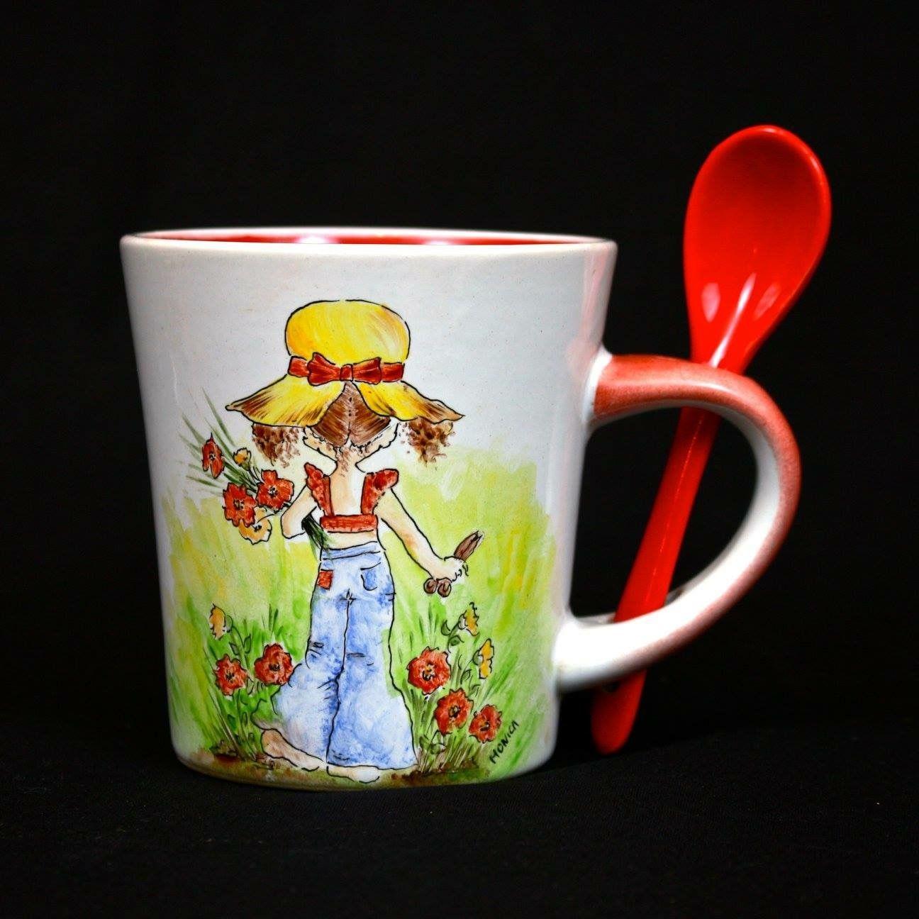 Mug dipinta a mano - tecnica terzo fuoco