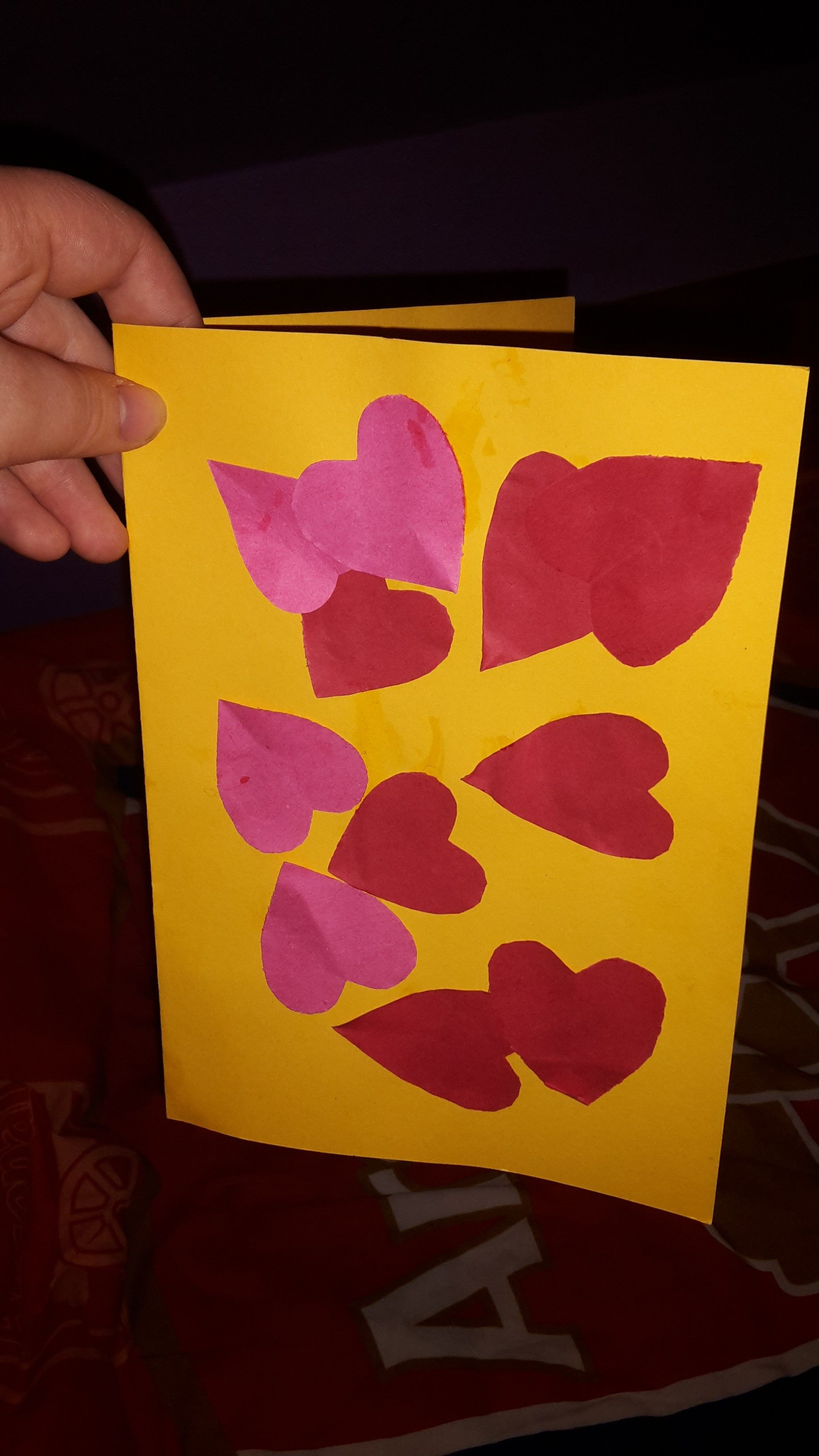 Picture 189 - (10th February 2015) Got a Valentine's card today off of one of my key children at work today... They can be so sweet sometimes, bless them!
