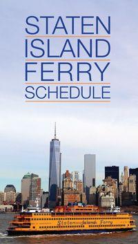 Nyc Ferry Schedule Staten Island