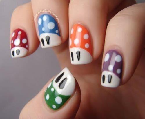 15 Fotos de uñas pintadas de Mario Bross #mariobross #nails | u_as ...
