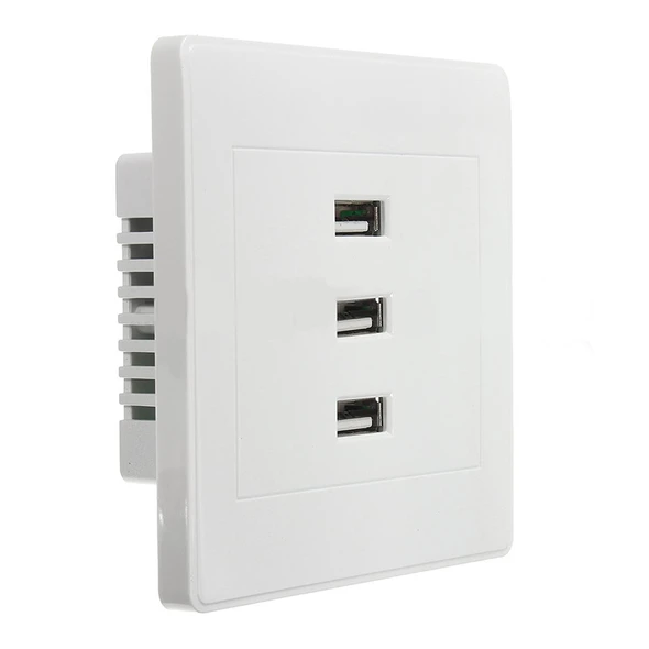 10a 3 port usb 2 0 wall socket usb wall charger socket on usb wall charger id=33860