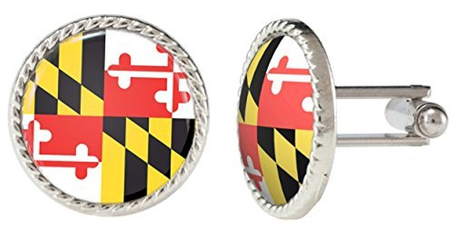 Maryland USA US State Flag Cuff Links by Arthwick Stores -- Awesome products selected by Anna Churchill