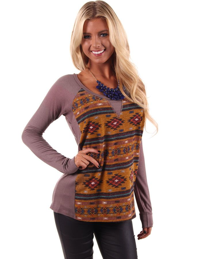 Lime Lush Boutique - Tribal Print Brushed Knit Top, $46.99 (http://www.limelush.com/tribal-print-brushed-knit-top/)