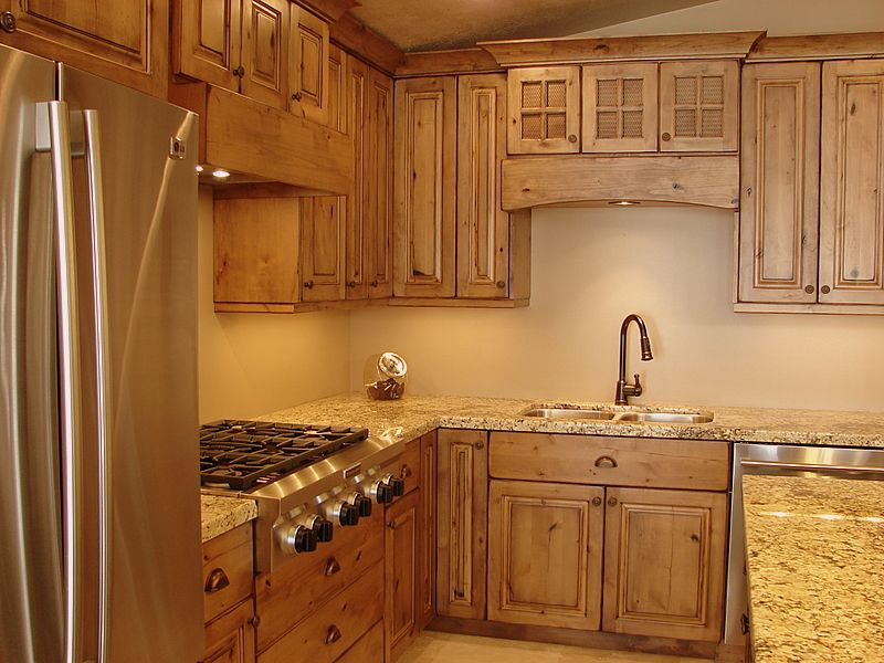 Best Alder Cabinets Pictures Rustic Knotty Alder Cabinets 400 x 300
