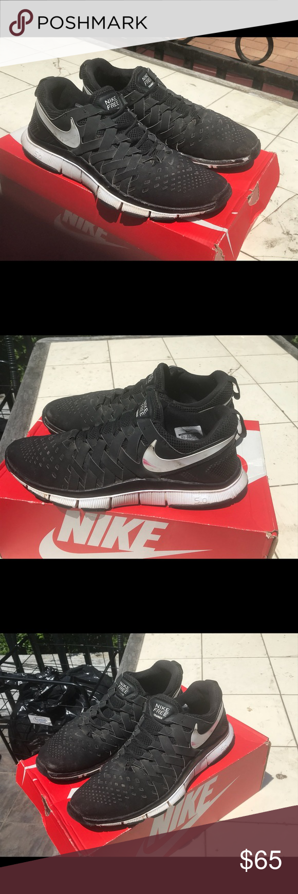 64a1eec5e2ca Nike Free Trainer 5.0 Fingertrap Black Size 10 1 2. Great condition. Ships  within 24 hours. Nike Shoes Sneakers