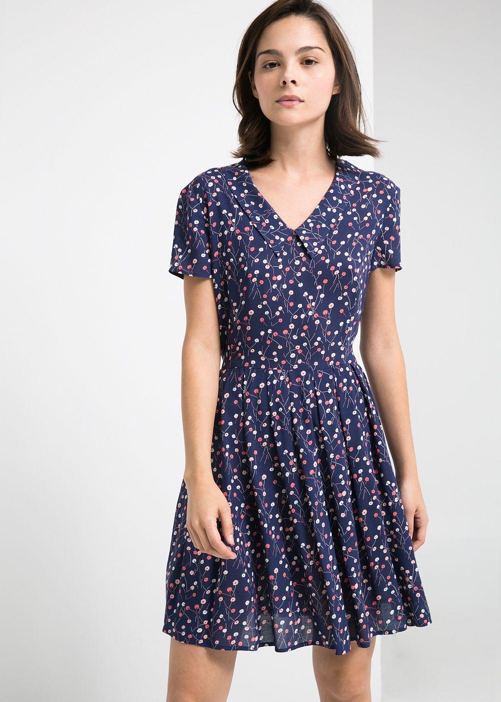Vestido estampado - Mulher   Vestido estampado, Mango y Vestiditos