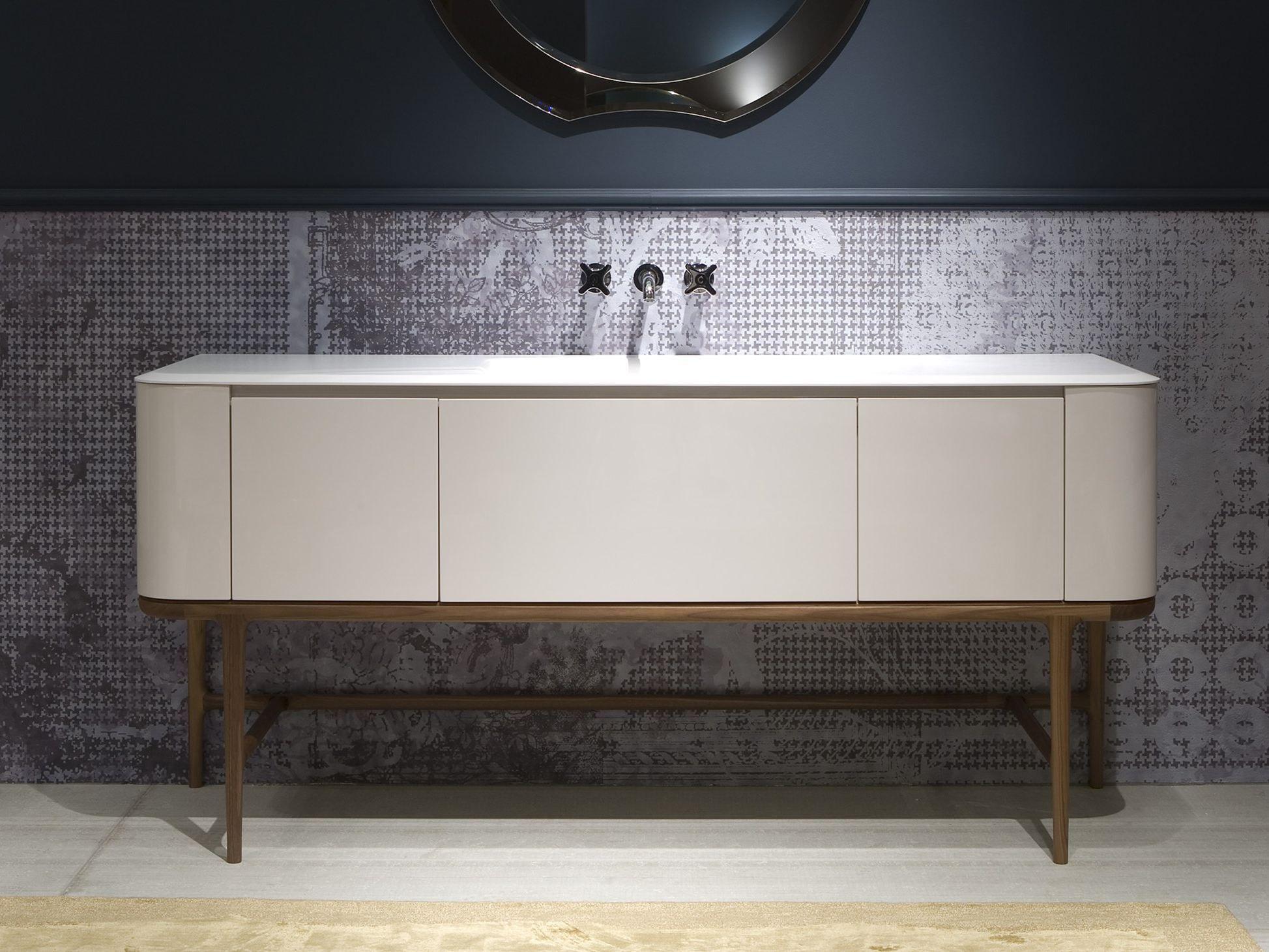 Lacquered Single Vanity Unit Ilbagno Collection By Antonio Lupi
