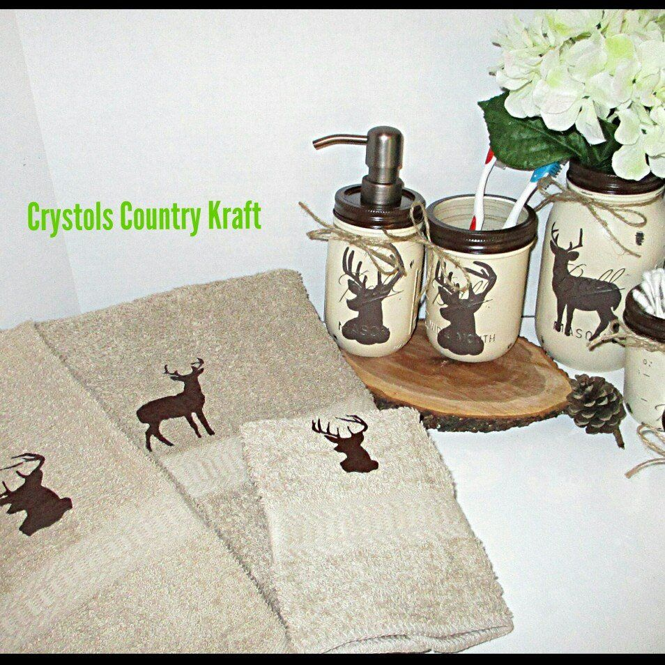 New matching decorative Deer towel set with my 9 piece hand