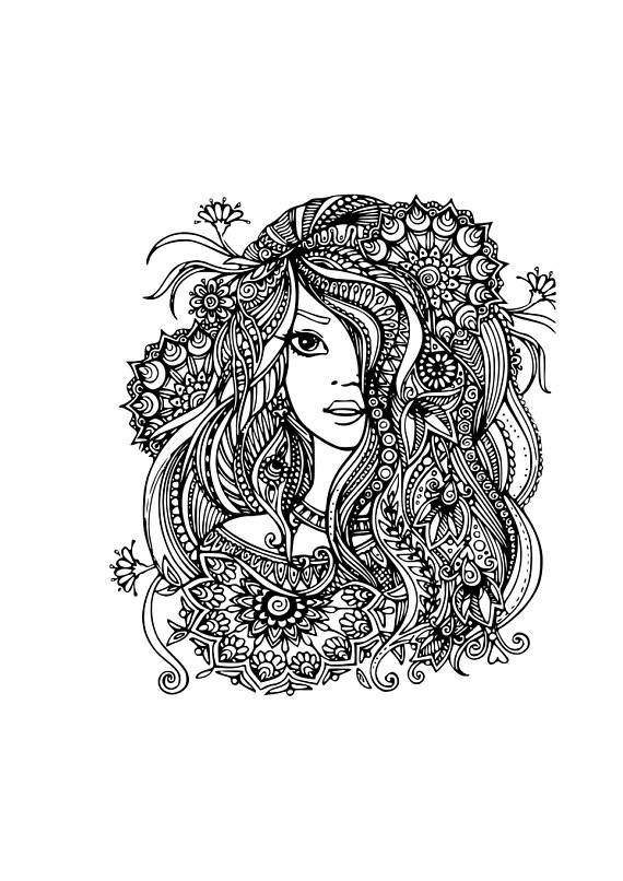 Fairy Girl zentangle svg Silhouette Cameo Projects