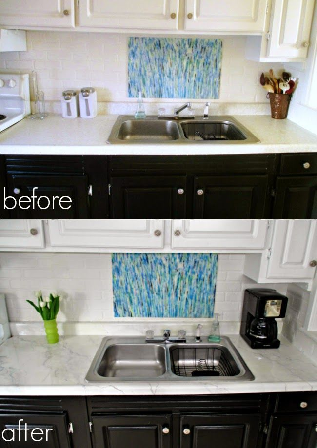 Diy Counters Laminate To Marble For Only 25 Diy Kitchen