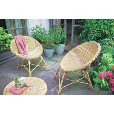 Salon de jardin 2 chaises + 1 table basse CURVAL | MOBILIER JARDIN ...