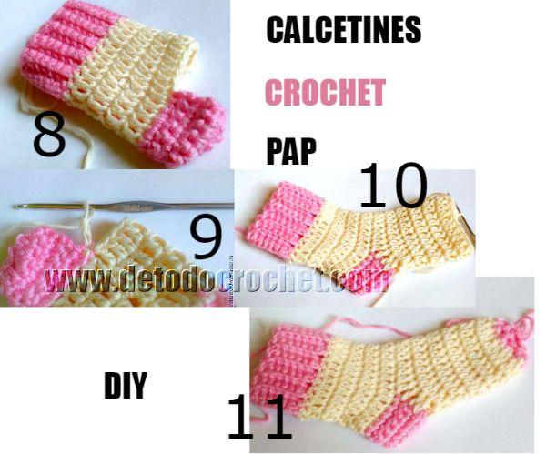 Cómo Tejer Medias A Crochet Para Niños Y Grandes Calcetines Crochet Calcetines De Ganchillo Como Tejer Calcetines