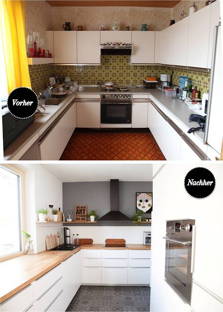 Before and after IKEA kitchen 70s bungalow renovation DIY