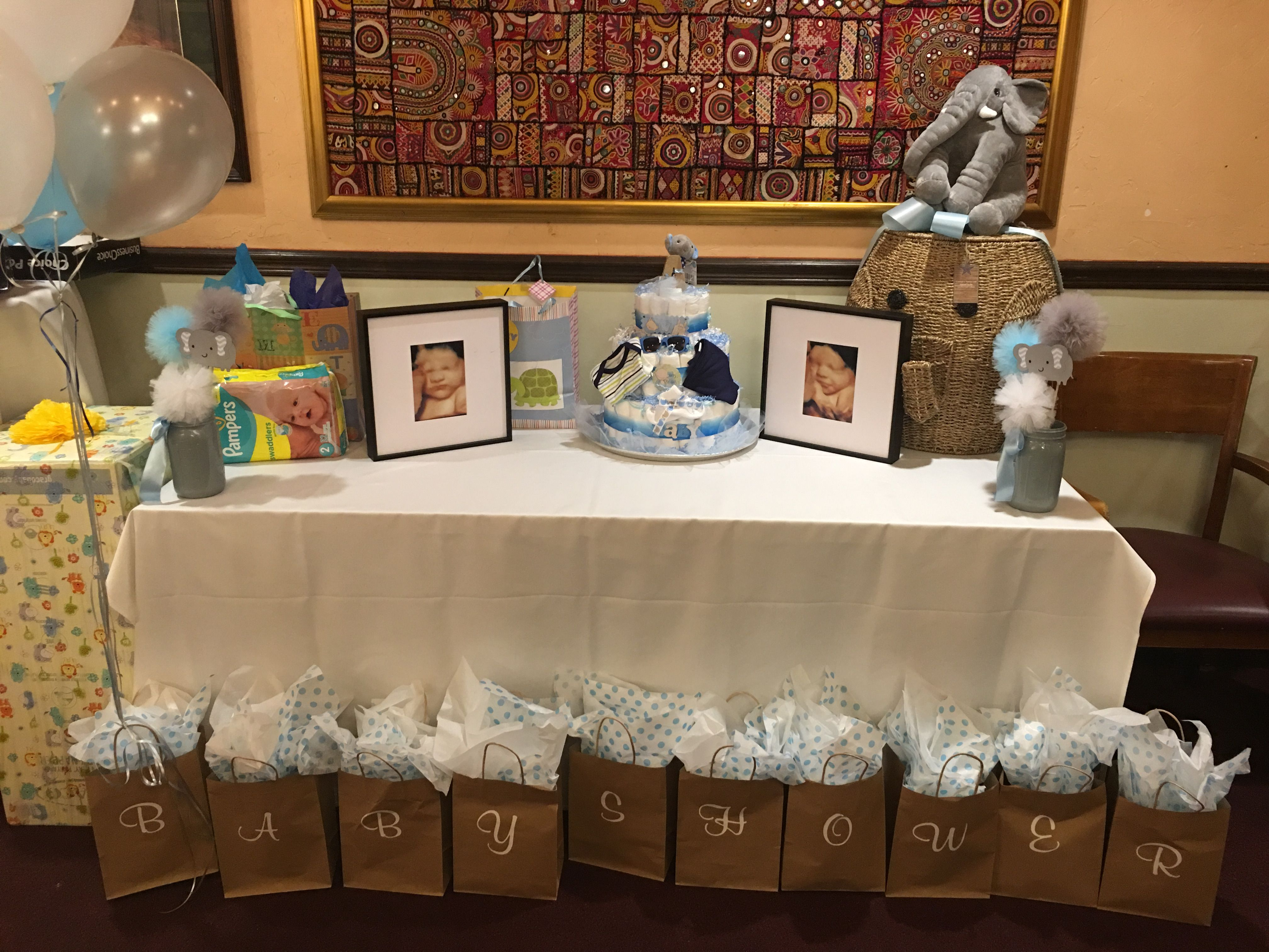 My gift table my elephant themed baby shower pinterest themed themed baby showers my gift table negle Gallery