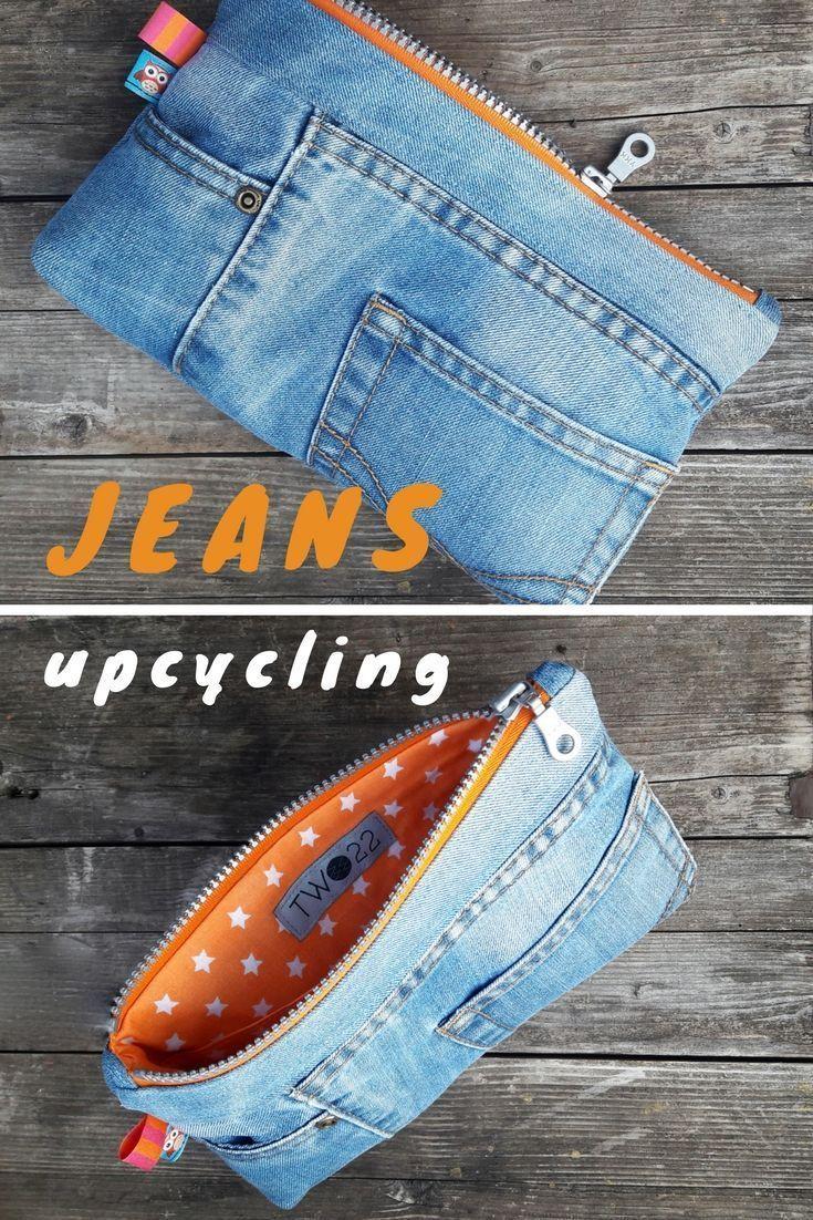 Die 2. Chance für deine Jeans! Die alte Hose wurde zu einer Hüfttasche. ...,  #chance #deine #einer #hufttasche #jeans #wurde