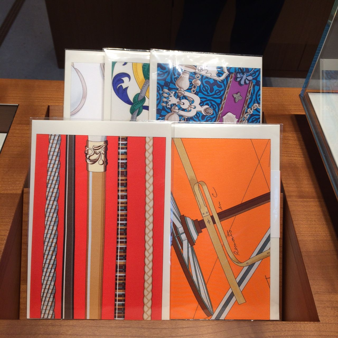 Very Nice! Greeting Cards with silk from Hermès!  #Hermès greeting Cards