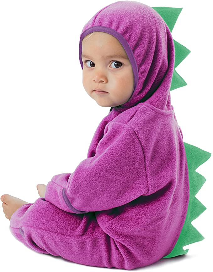 12-18 Month, Pink Cuddle Club Funzies Baby Bunting Fleece Hooded Romper Bodysuit