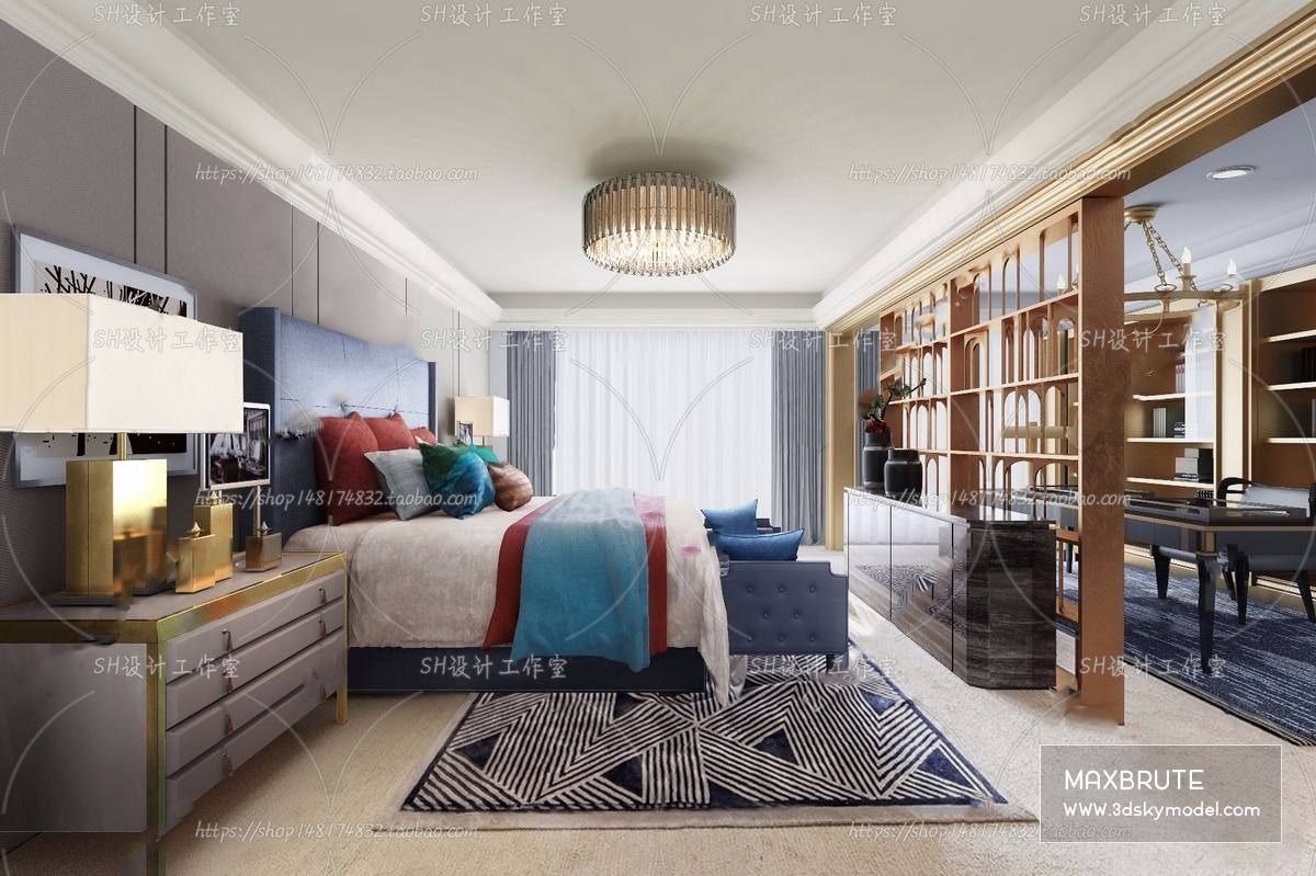 Sell Bedroom Mix style 2019 3dsmax in 2020 | Modern ...